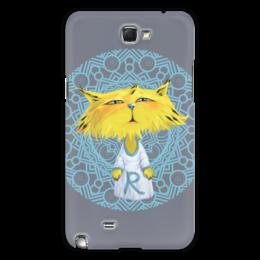 """Чехол для Samsung Galaxy Note 2 """"Рысёнок"""" - кот, рисунок, детский, рысь, мультяшный"""