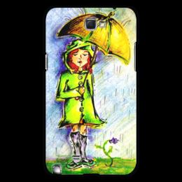 """Чехол для Samsung Galaxy Note 2 """"Дождик, дождик, уходи!"""" - дети, детское, ручная работа, детский рисунок, детская работа"""