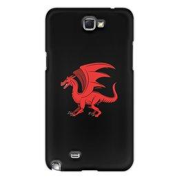 """Чехол для Samsung Galaxy Note 2 """"дракон"""" - крылья, животные, дракон, dragon, динозавр"""