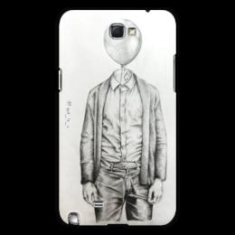 "Чехол для Samsung Galaxy Note 2 ""Mr.baloon"" - арт, рисунок, шарик, карандаш, сюр"