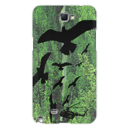 """Чехол для Samsung Galaxy Note 2 """"Высота птичьего полета"""" - стиль, дорога, птицы"""