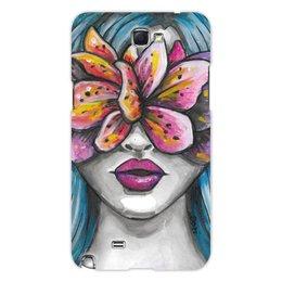 """Чехол для Samsung Galaxy Note 2 """"Весна"""" - праздник, девушка, цветы, 8 марта, весна"""