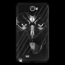 """Чехол для Samsung Galaxy Note 2 """"Чёрная пантера"""" - marvel, мстители, марвел, черная пантера, black panther"""