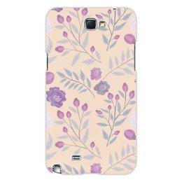 """Чехол для Samsung Galaxy Note 2 """"цветы"""" - лето, цветы, узор, природа, цветочки"""