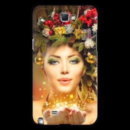 """Чехол для Samsung Galaxy Note 2 """"Девушка"""" - девушка, новый год"""