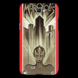 "Чехол для Samsung Galaxy Note 2 ""Афиша к фильму «Метрополис», 1927 год"" - фильм, афиша"