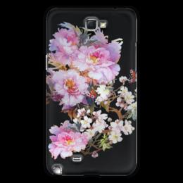 """Чехол для Samsung Galaxy Note 2 """"Цветочная акварель."""" - бабочки, цветы, flowers, акварель, живопись, весеннее, цветочное"""