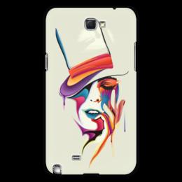 "Чехол для Samsung Galaxy Note 2 ""Образ Леди "" - девушка, леди"
