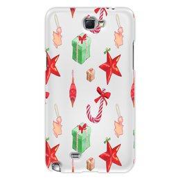 """Чехол для Samsung Galaxy Note 2 """"новый год"""" - конфеты, новый год, подарки, рождество, christmas"""