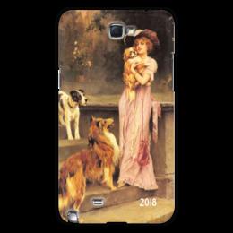 """Чехол для Samsung Galaxy Note 2 """"2018 год Собаки"""" - новый год, настроение, картина, собака, теплый"""