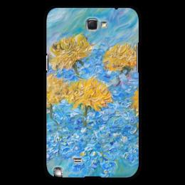 "Чехол для Samsung Galaxy Note 2 ""Одуванчики"" - арт, весна, небо"