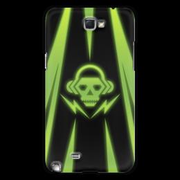 """Чехол для Samsung Galaxy Note 2 """"Skull"""" - skull, music, dubstep"""