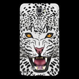 "Чехол для Samsung Galaxy Note 2 ""Леопард"" - животные, рисунок, коты, леопард, хищники"