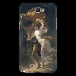 """Чехол для Samsung Galaxy Note 2 """"Буря (Пьер Огюст Кот)"""" - кот, картина"""