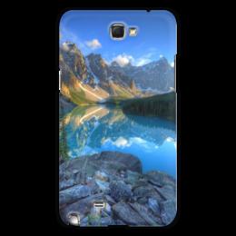 "Чехол для Samsung Galaxy Note 2 ""Природа"" - лето, небо, река, гора, скала"