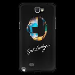 "Чехол для Samsung Galaxy Note 2 ""Daft Punk"" - daft punk, дафт панк, музыка, электроника, хаус"