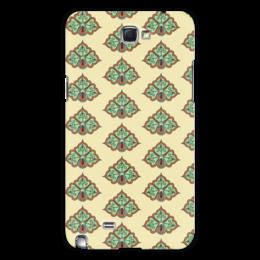 """Чехол для Samsung Galaxy Note 2 """"Цветочный"""" - цветочный, узор, орнамент, стиль, рисунок"""