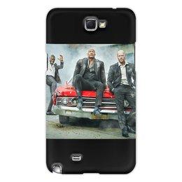 """Чехол для Samsung Galaxy Note 2 """"Форсаж. Хопс и Шоу. """" - кино, чехол, чехол для телефона, акссесуар, мужской чехол"""