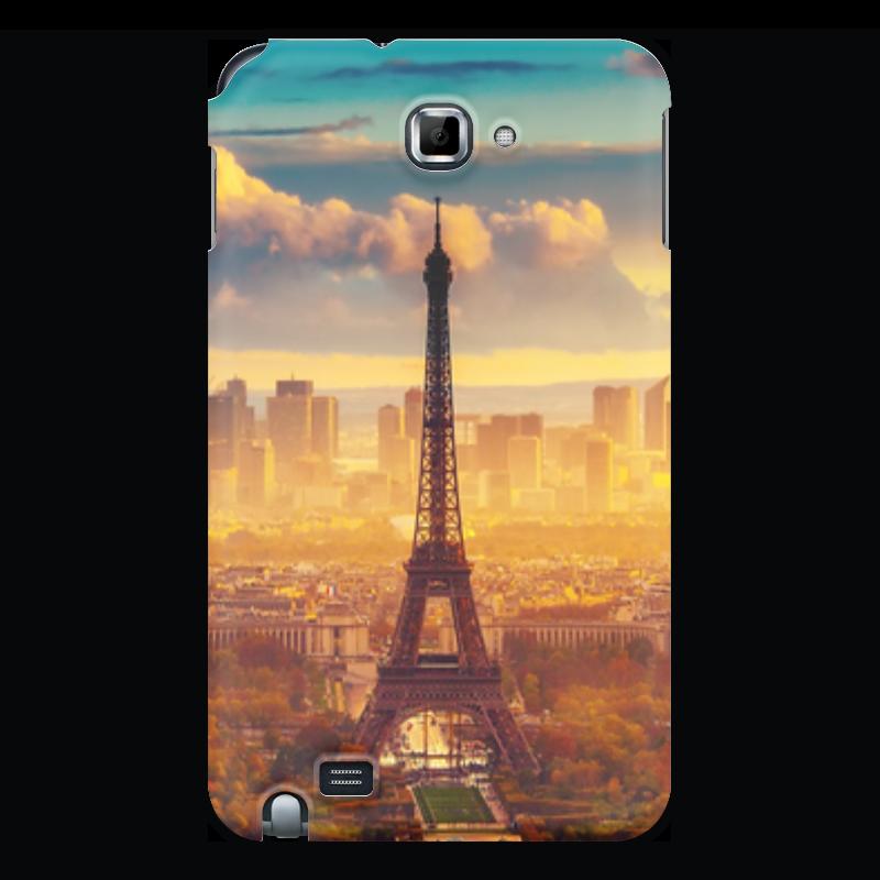 Чехол для Samsung Galaxy Note Printio Романтическое настроение макет эйфелевой башни спб