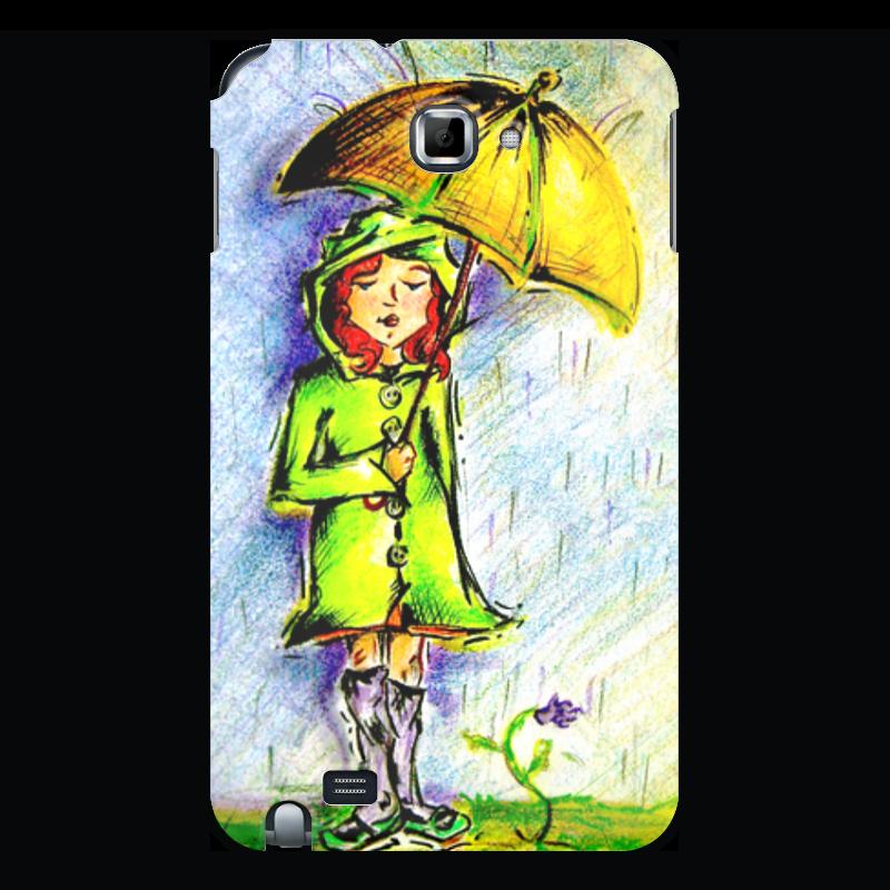 Чехол для Samsung Galaxy Note Printio Дождик, дождик, уходи! чехол для iphone 4 4s printio дождик дождик уходи