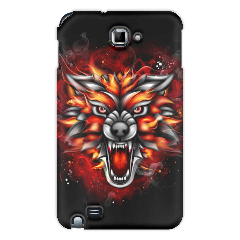 Чехол для Samsung Galaxy Note Printio Wolf & fire protective flip open pu case w stand for samsung galaxy note 10 1 2014 edition red