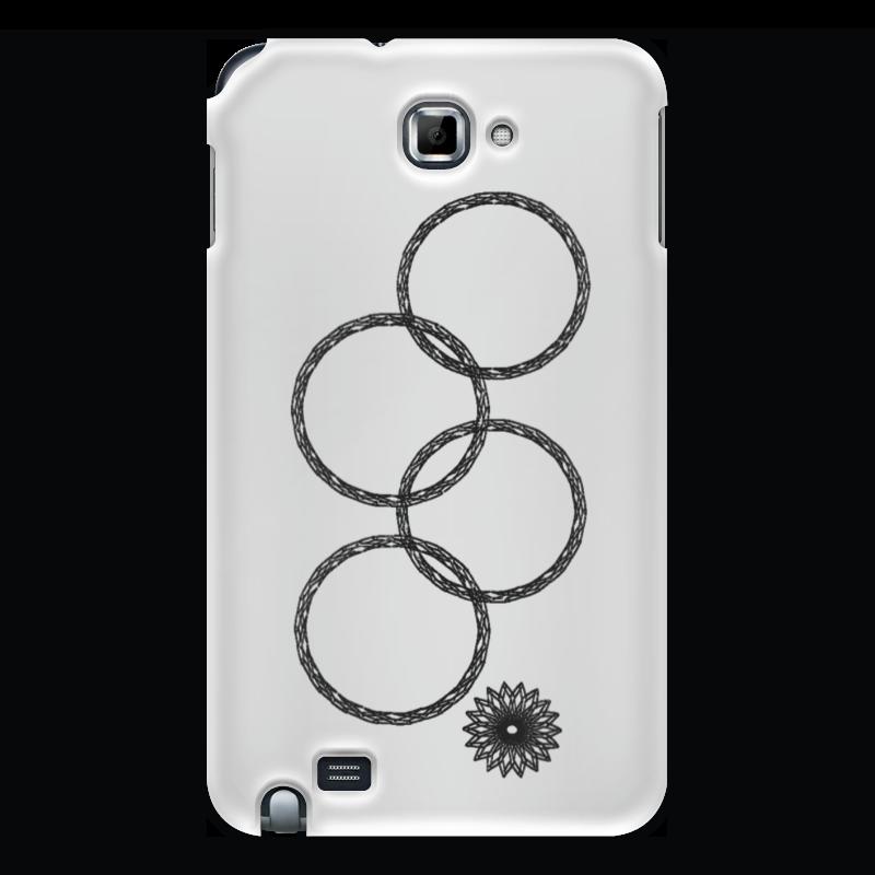 все цены на Чехол для Samsung Galaxy Note Printio Нераскрывшееся кольцо (снежинка) онлайн