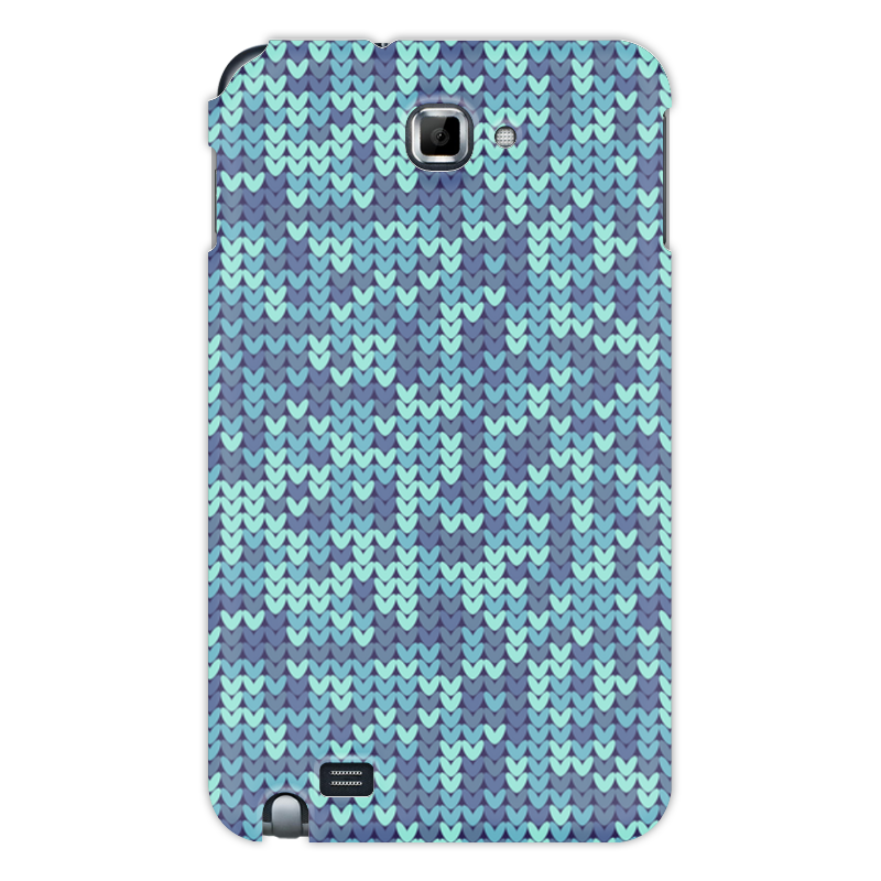 Чехол для Samsung Galaxy Note Printio Голубой вязаный узор