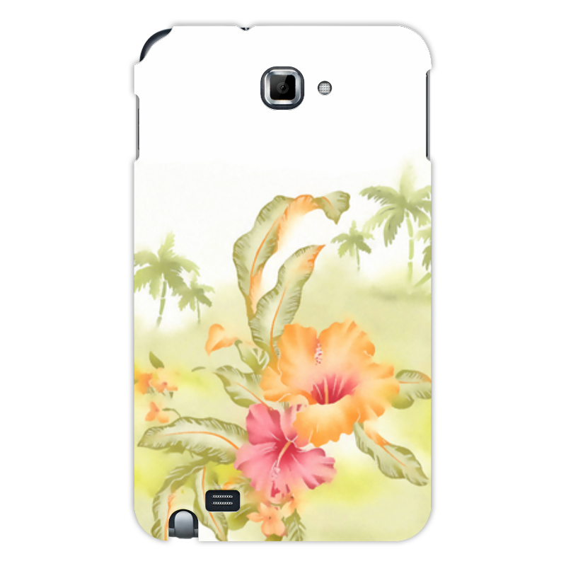 Чехол для Samsung Galaxy Note Printio Тропические цветы, пальмы. чехол для для мобильных телефонов rcd 4 samsung 4 for samsung galaxy note 4 iv