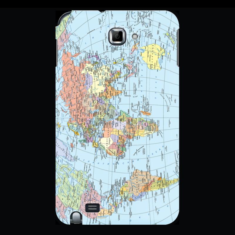 Чехол для Samsung Galaxy Note Printio Карта мира политическая карта мира