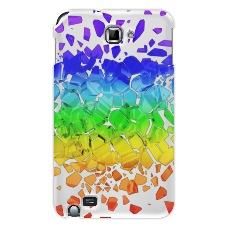 Чехол для Samsung Galaxy Note Printio Broken rainbow блокнот printio broken rainbow