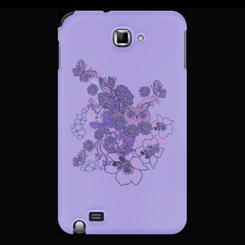 Чехол для Samsung Galaxy Note Printio Сова в цветах чехол для iphone 5 printio сова в цветах