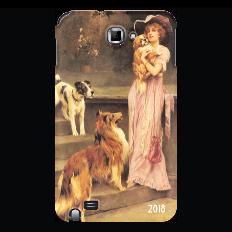 Чехол для Samsung Galaxy Note Printio 2018 год собаки эксмо собаки подарок для всех кто обожает собак