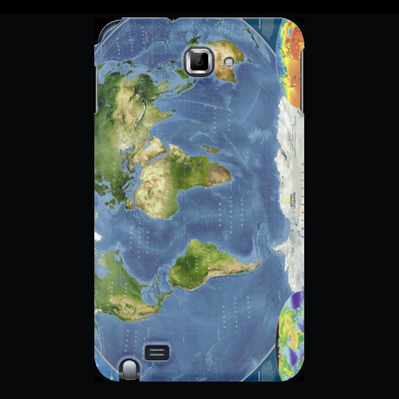 Чехол для Samsung Galaxy Note Printio Карта мира чехол для samsung galaxy note 2 printio хочешь мира готовься к войне