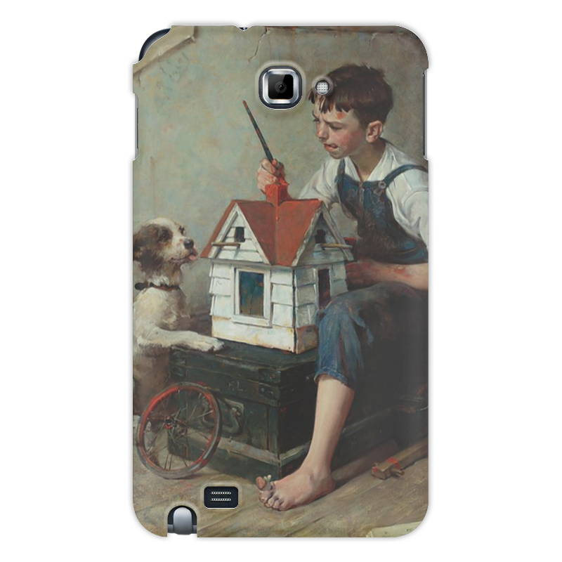 Чехол для Samsung Galaxy Note Printio Painting the little house