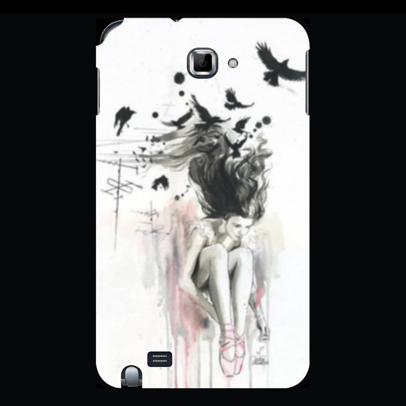 Чехол для Samsung Galaxy Note Printio Девушка и птицы