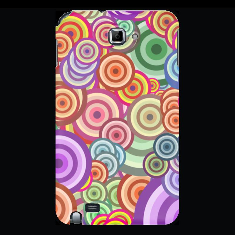 Чехол для Samsung Galaxy Note Printio Цветные круги чехол для для мобильных телефонов rcd 4 samsung 4 for samsung galaxy note 4 iv