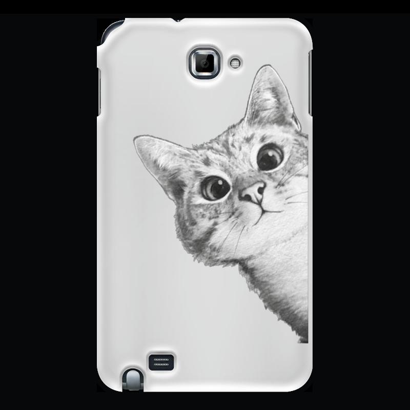 Чехол для Samsung Galaxy Note Printio Любопытный кот стоимость