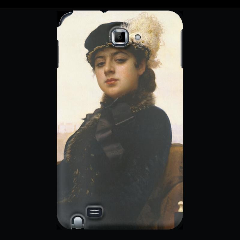 Чехол для Samsung Galaxy Note Printio Неизвестная (картина крамского) чехол для samsung galaxy s3 printio неизвестная картина крамского