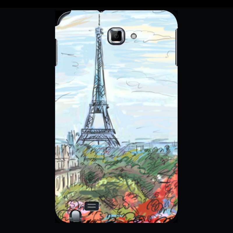 цены Чехол для Samsung Galaxy Note Printio Эйфелева башня