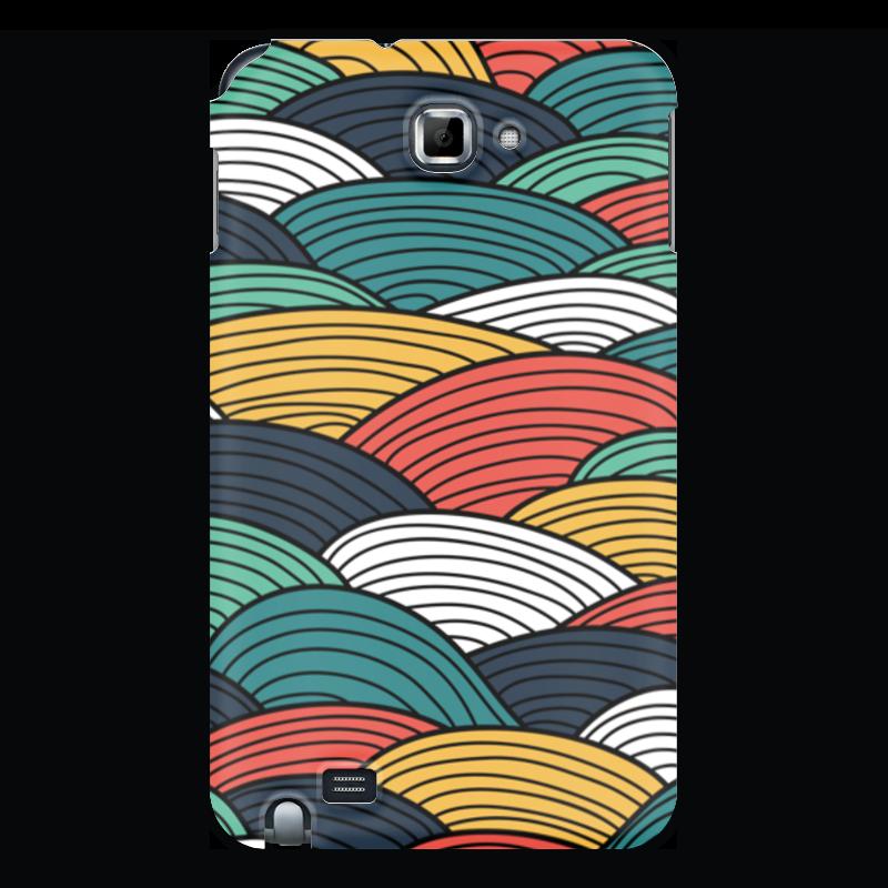 Чехол для Samsung Galaxy Note Printio Цветные волны чехол для ноутбука 14 printio волны