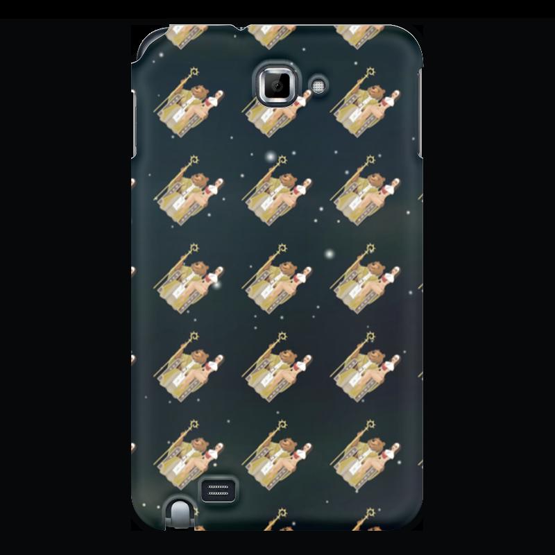 лучшая цена Чехол для Samsung Galaxy Note Printio Фоном медведь wap.click на троне