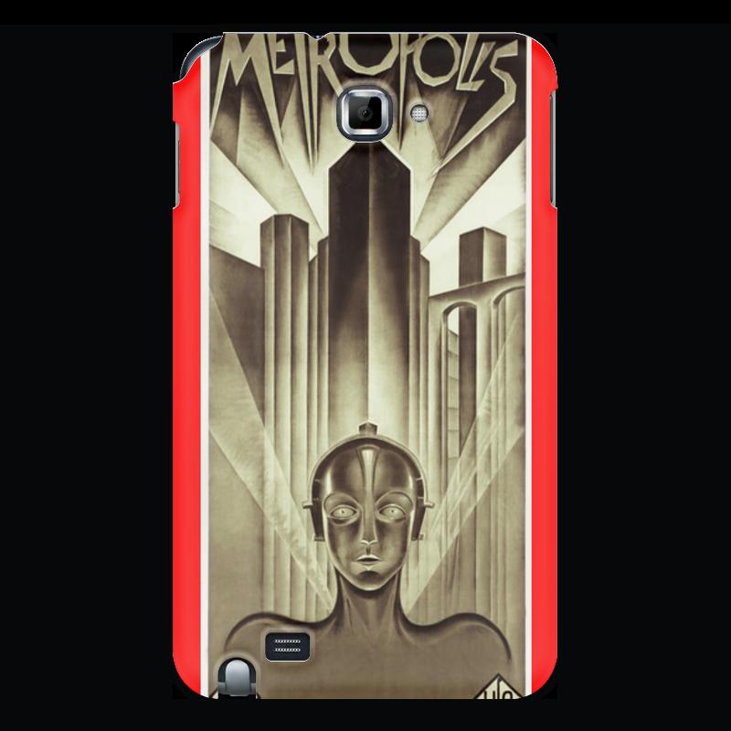 Чехол для Samsung Galaxy Note Printio Афиша к фильму «метрополис», 1927 год для мам афиша