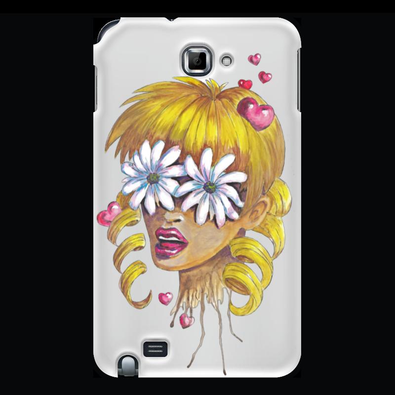 Чехол для Samsung Galaxy Note Printio Без ума от цветов kakim bydet gibkii telefon ot samsung