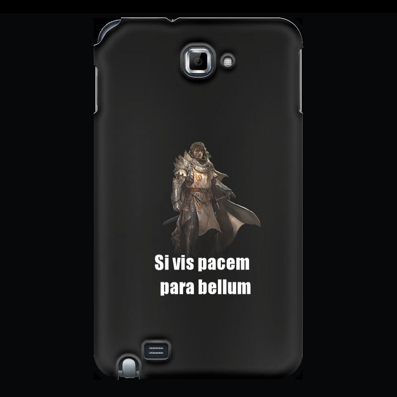 Чехол для Samsung Galaxy Note Printio Хочешь мира - готовься к войне эфраим баух эффект бабочки израиль – иран от мира – к войне от дружбы к ненависти