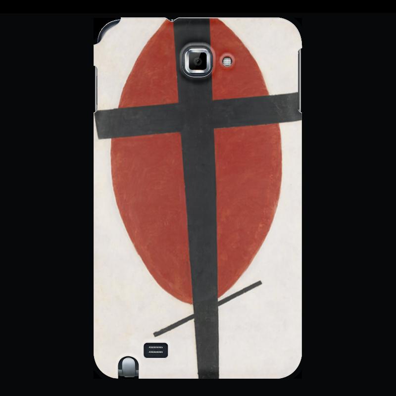 Чехол для Samsung Galaxy Note Printio Супрематизм (черный крест на красном овале) ожерелье овале