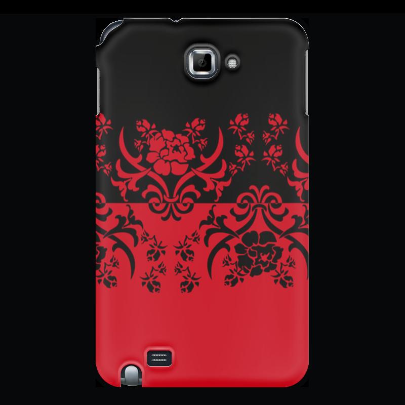 Чехол для Samsung Galaxy Note Printio Красно-черное корсет с черным узором 42 44