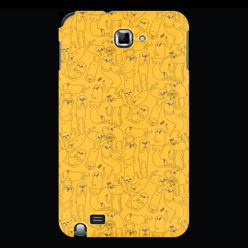 Фото - Чехол для Samsung Galaxy Note Printio джейк пёс. время приключений чехол для iphone 6 глянцевый printio гюнтер время приключений