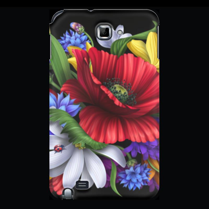 Чехол для Samsung Galaxy Note Printio Композиция цветов чехол для samsung galaxy note 2 printio композиция в сером