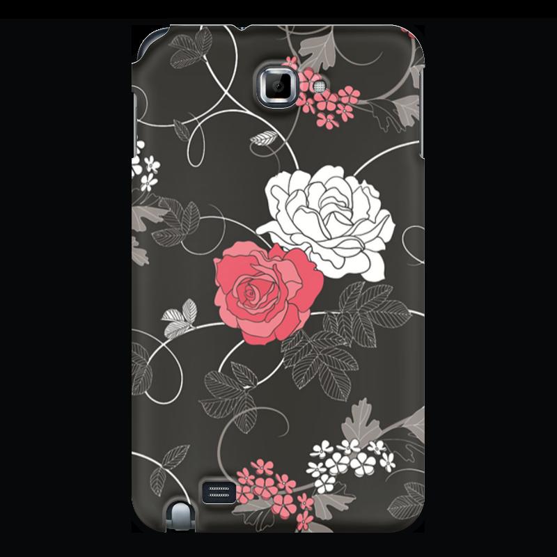 Чехол для Samsung Galaxy Note Printio Красная и белая розы