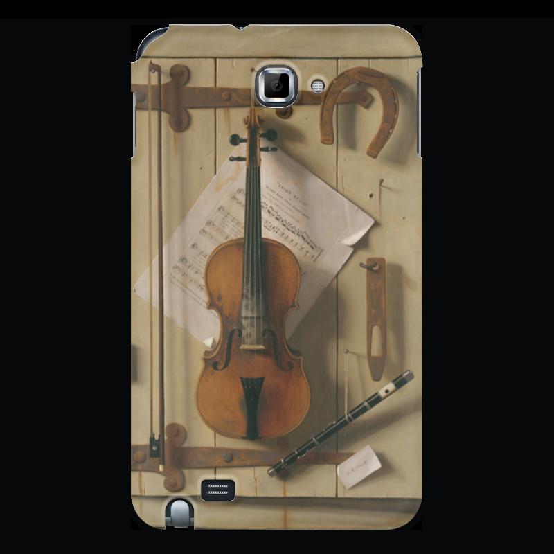 Чехол для Samsung Galaxy Note Printio Натюрморт со скрипкой (уильям харнетт) пазл castor land 68 47см натюрморт со скрипкой и живописью 1000эл